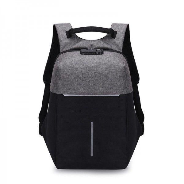 USB防盗包旅行双肩背包男士背包商务�...