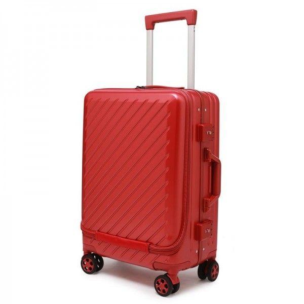新款前置电脑袋PC行李箱铝合金加厚防...
