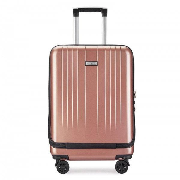 厂家直销拉链行李箱前置电脑袋带USB�...